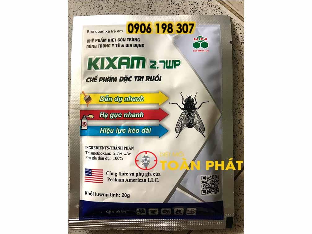 Thuốc diệt ruồi Kixam 2.7WP hộp 10 gói 20Gr