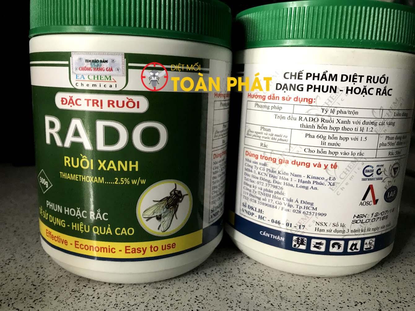 Thuốc diệt ruồi Rado Ruồi Xanh hộp 500g